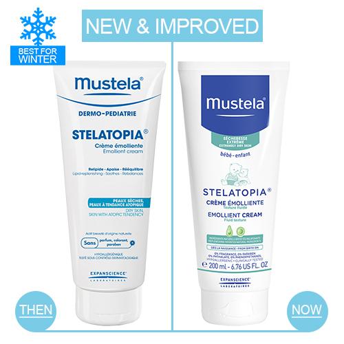Mustela_New-vs-Old-packs_Stelatopia-Emollient-Cream